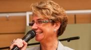 Frau Pioschyk, die Moderatorin des Hospiztages